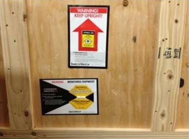 Add Shockwatch and Tiltwatch to deter mishandling during shipping and storage