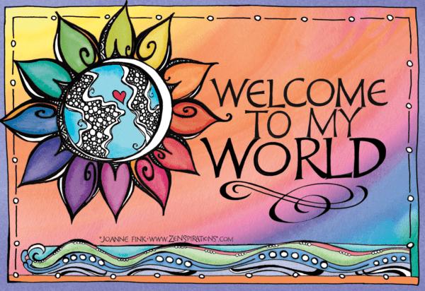 Zenspirations_by_Joanne_Fink_Welcome_to_My_World_Rainbow_Sunflower