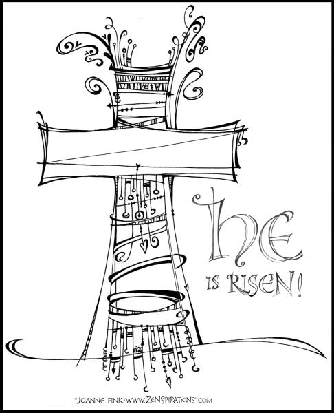 Zenspirations®_by_Joanne_Fink_He_Is_Risen_Sketch