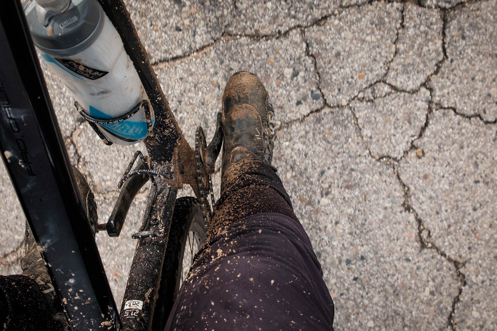 Muddy Lake boots and gritty mud.
