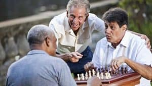 Men playing chess 300x170 - How the Aging Brain Affect Thinking