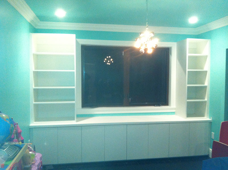 Custom cabinets for playroom