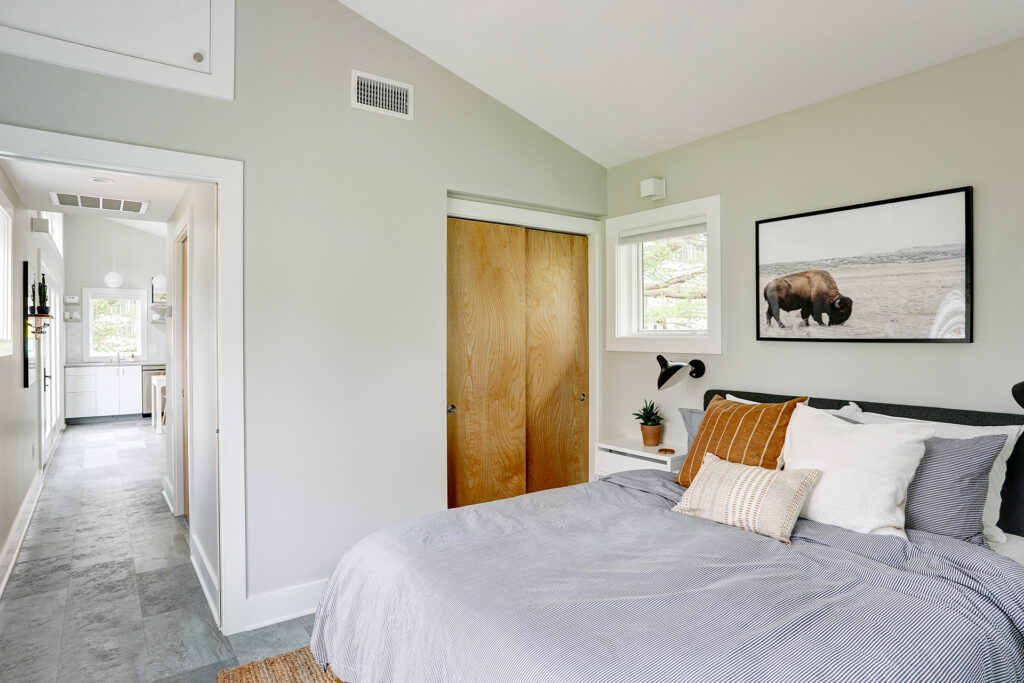 Alloy Workshop   Architecture and Construction   Design Build Firm   Charlottesville, Virginia   Accessory Dwelling Unit   Bedroom