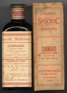 Medical Cannabis Bottles from 1890