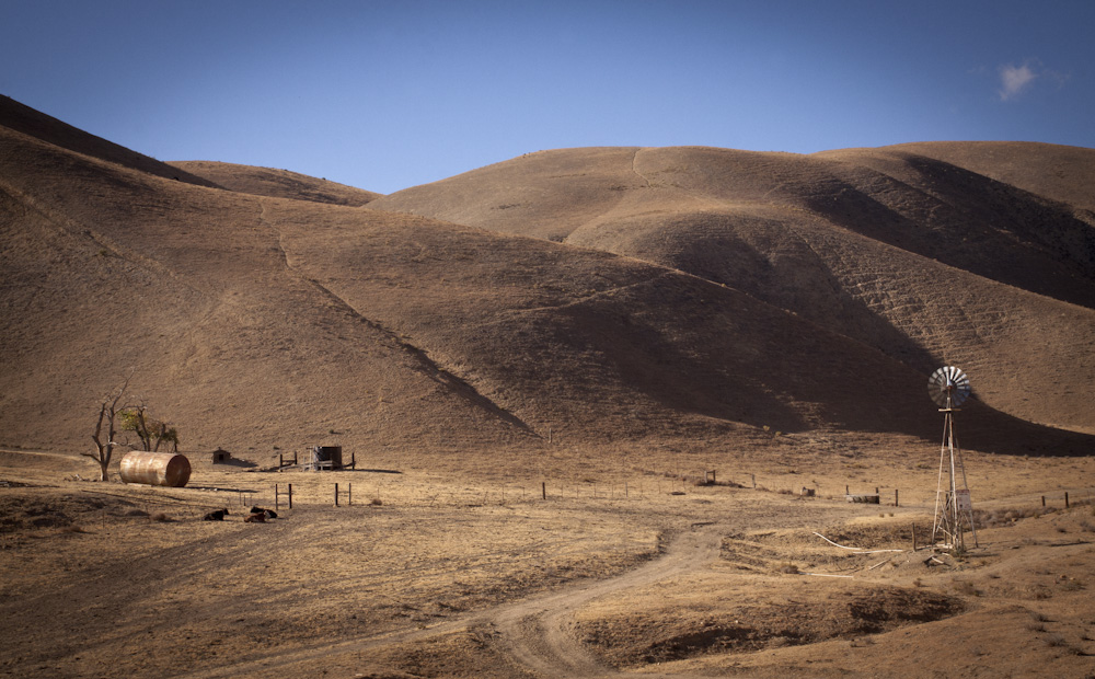 The Temblor Range  on Interstate 58 just before reaching the Carrizo Plain. Photo by: Lisa Richardson