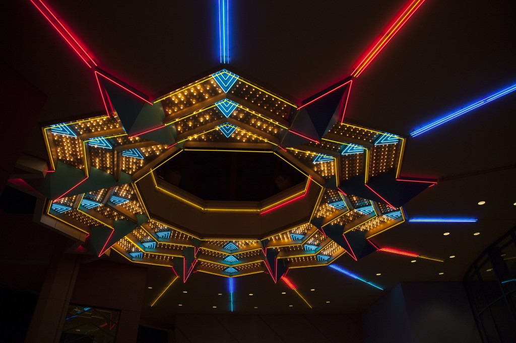 The torazo lights up the night sky at the Pacific Theaters in Northridge, Calif. Photo: Lynn Levitt