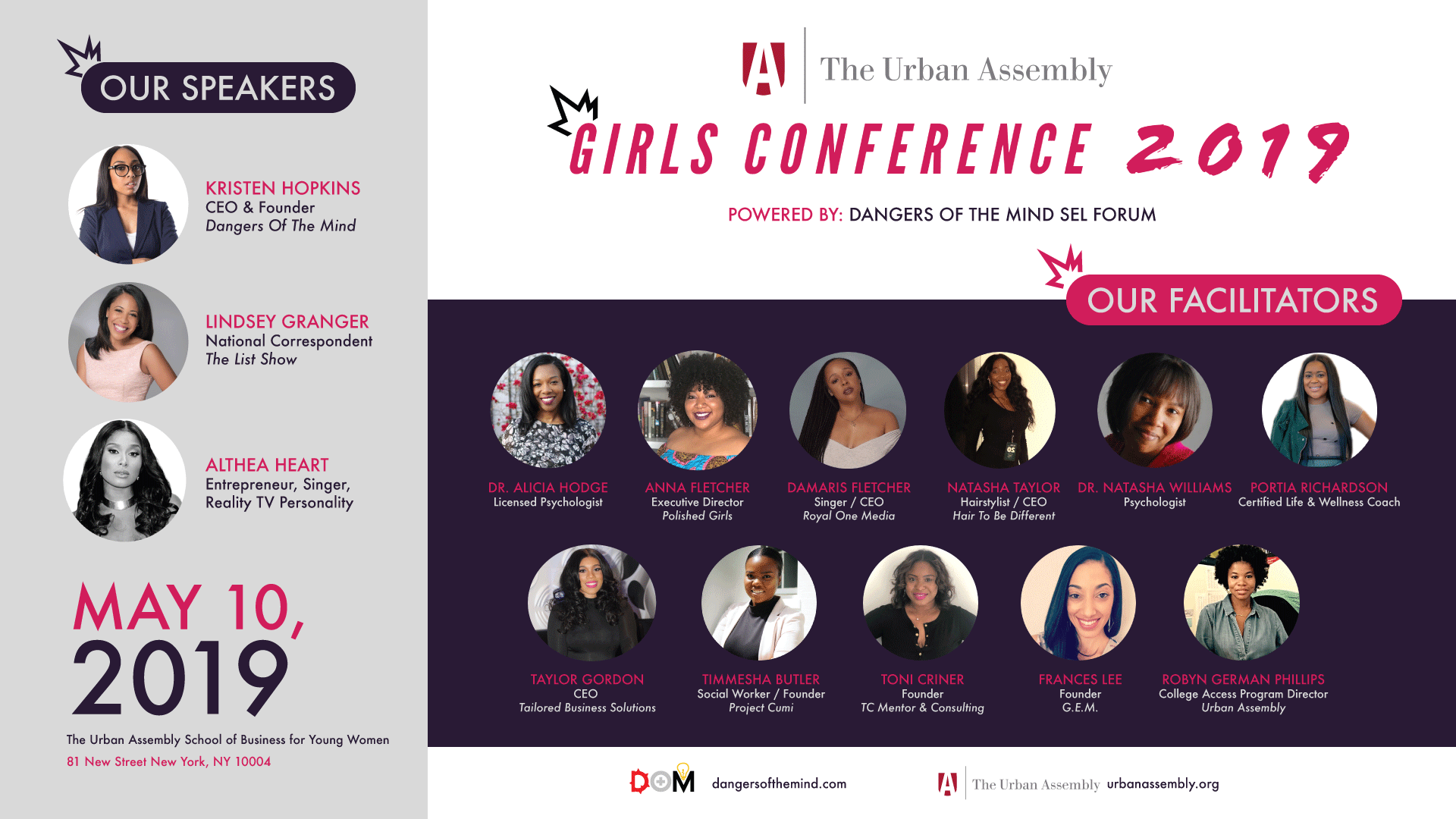 The Business Mogul: Kristen Hopkins, Founder & CEO of Dangers of the Mind has partnered with The Urban Assembly (UA) to host a Youth Girls Conference with a Social Emotional Learning Forum