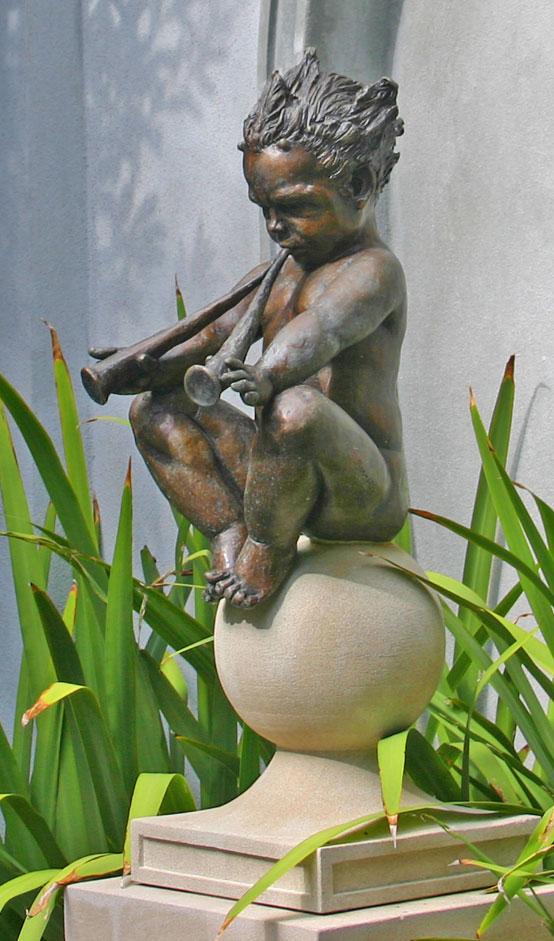 """Baby Pan, bronze, 36"""" H"""
