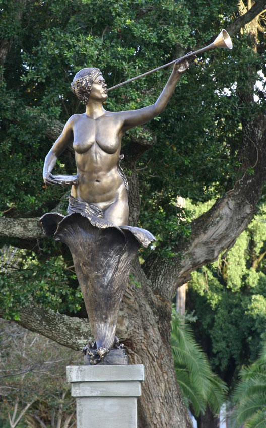 Birth of a Muse, bronze, 7' H