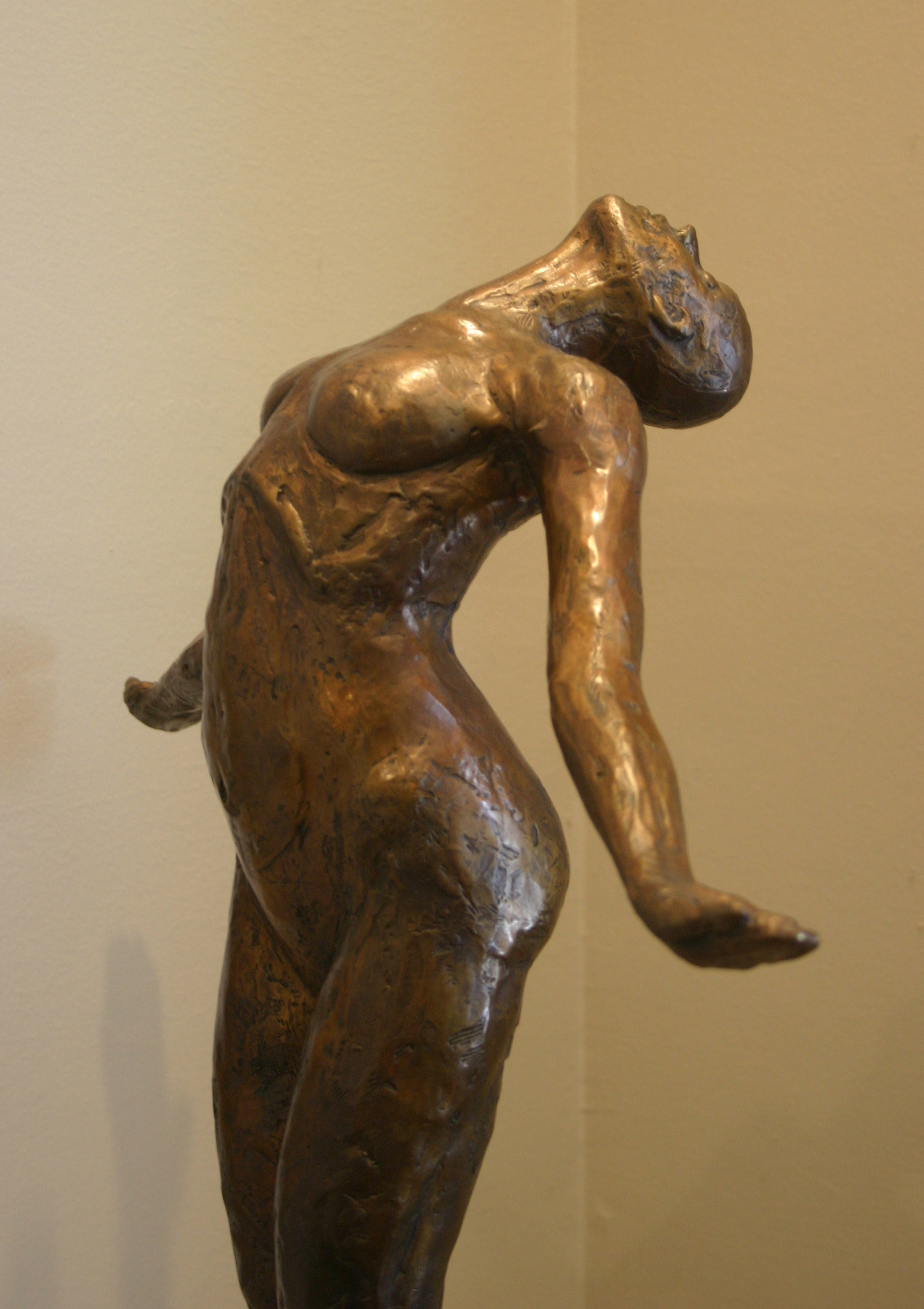 "Resurrection, bronze, 32"" H"