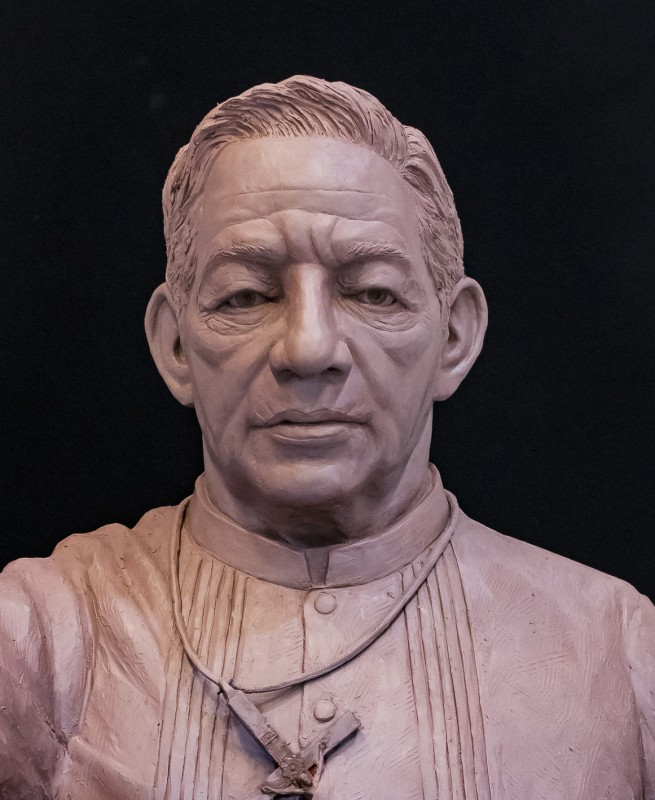 Brother Martin,  lifesize clay for bronze