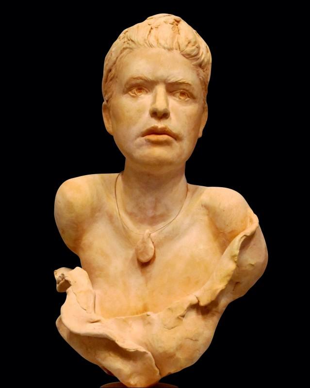 "Beaute, terracotta clay, 14"" H"