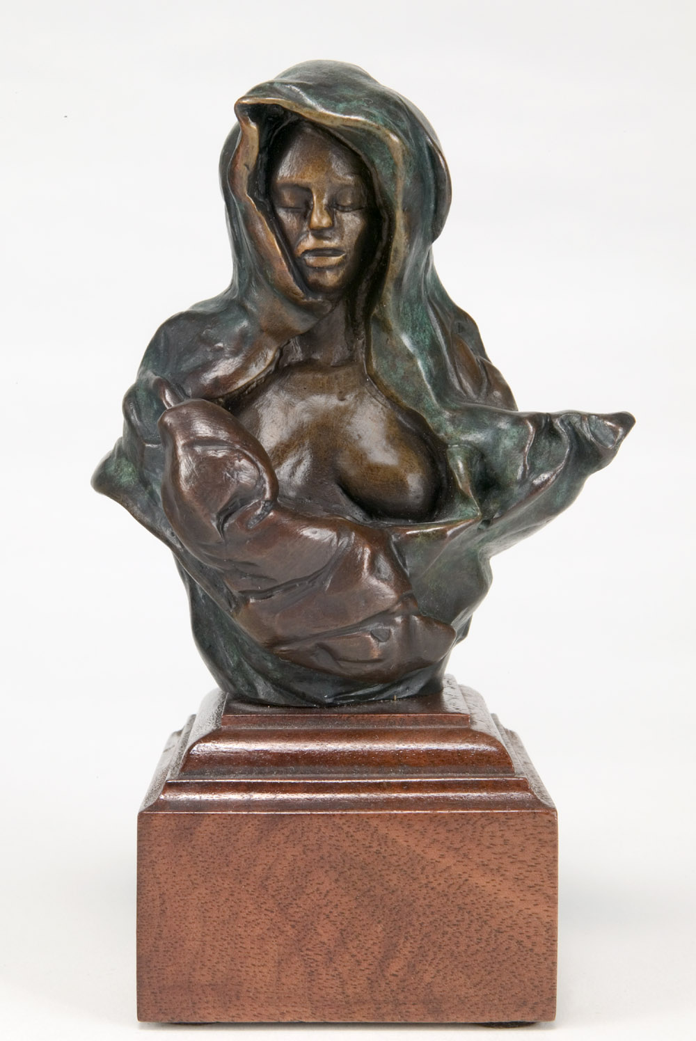 """Colleen and Sweet Pea, bronze, 4.5"""" H"""