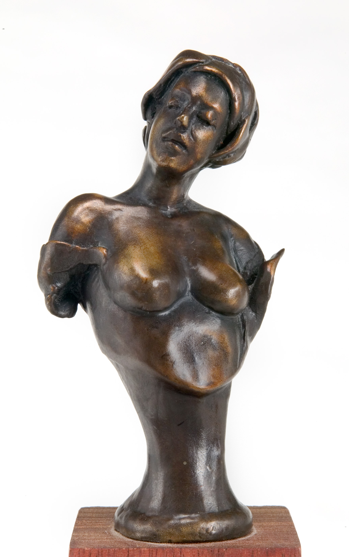 """Le Petit Fleur, bronze, 4.5"""" H"""