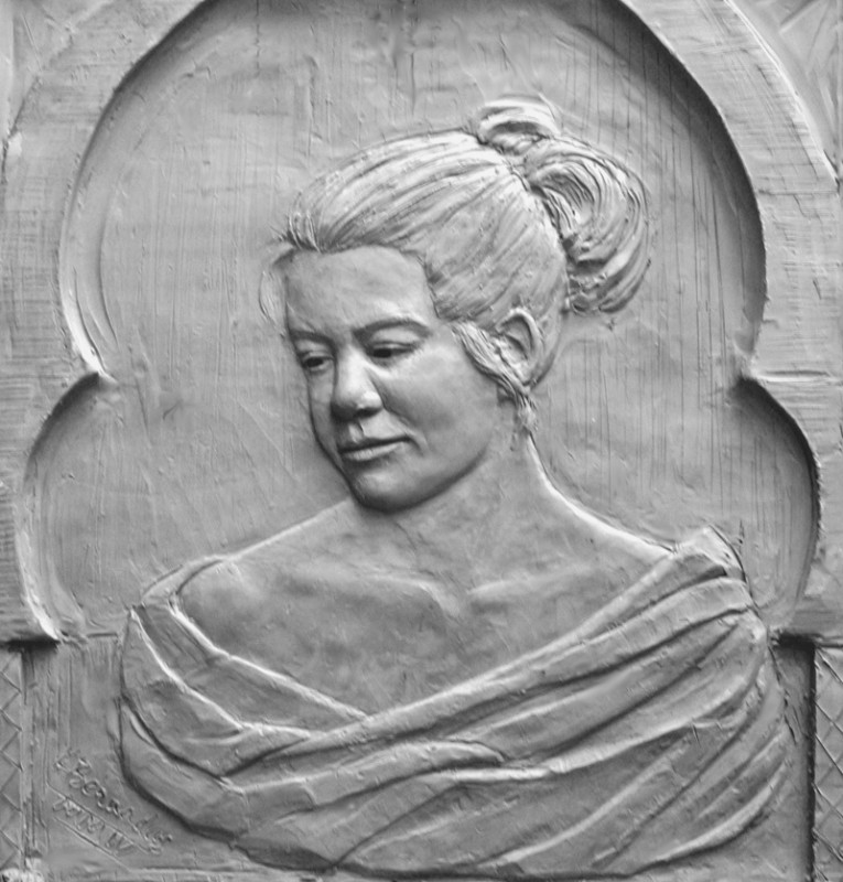 "Sarah Lane, bronze, 9x12"""