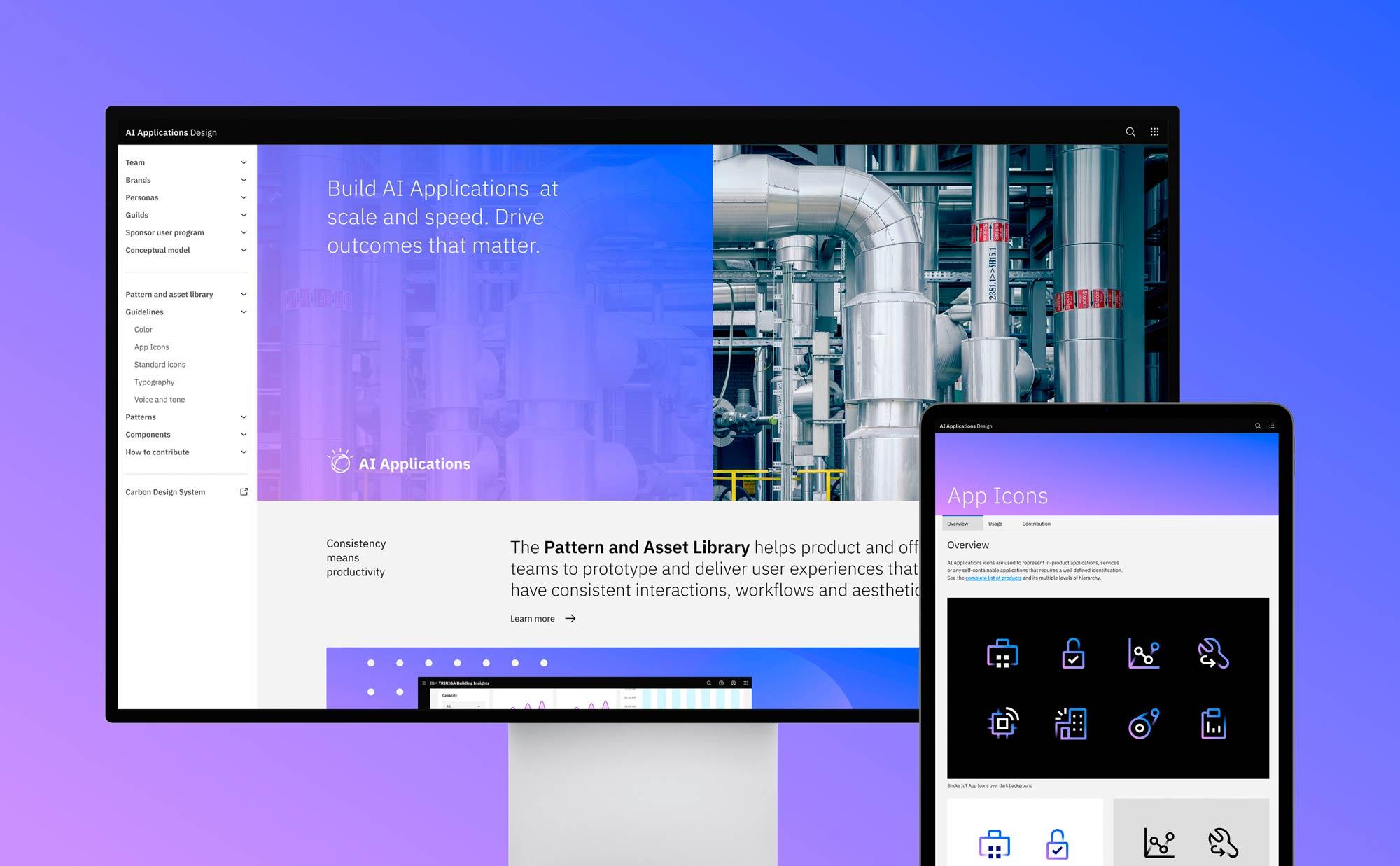 IBM AI Applications visual design guidelines