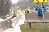 Image result for images jersey barriers in floods