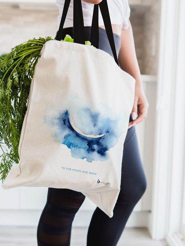 Crescent Moon Tote bag by Hand-Painted Yoga
