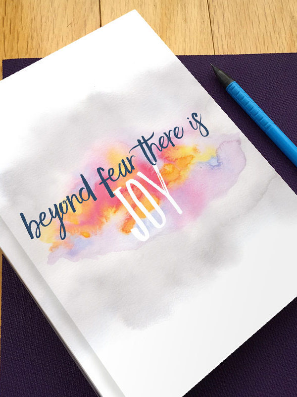 Inspiration Quote Gratitude Journal by Hand-Painted Yoga