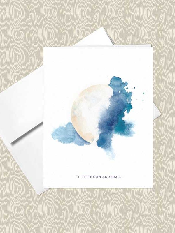 Mystic Moon Watercolor Greeting Cards by Hand-Painted Yoga