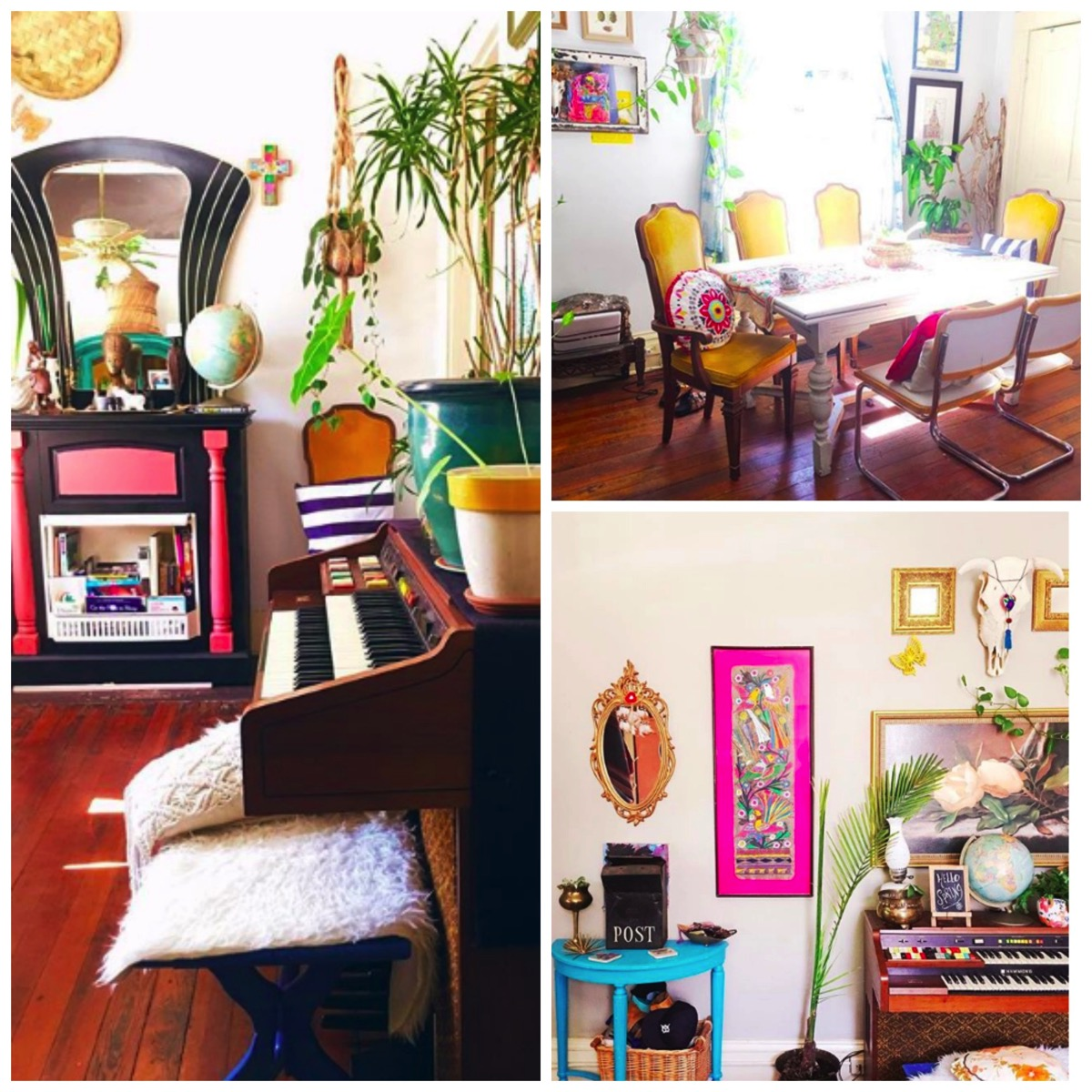 Augusta Isabelle Wheeler colorful crafty thrifty home