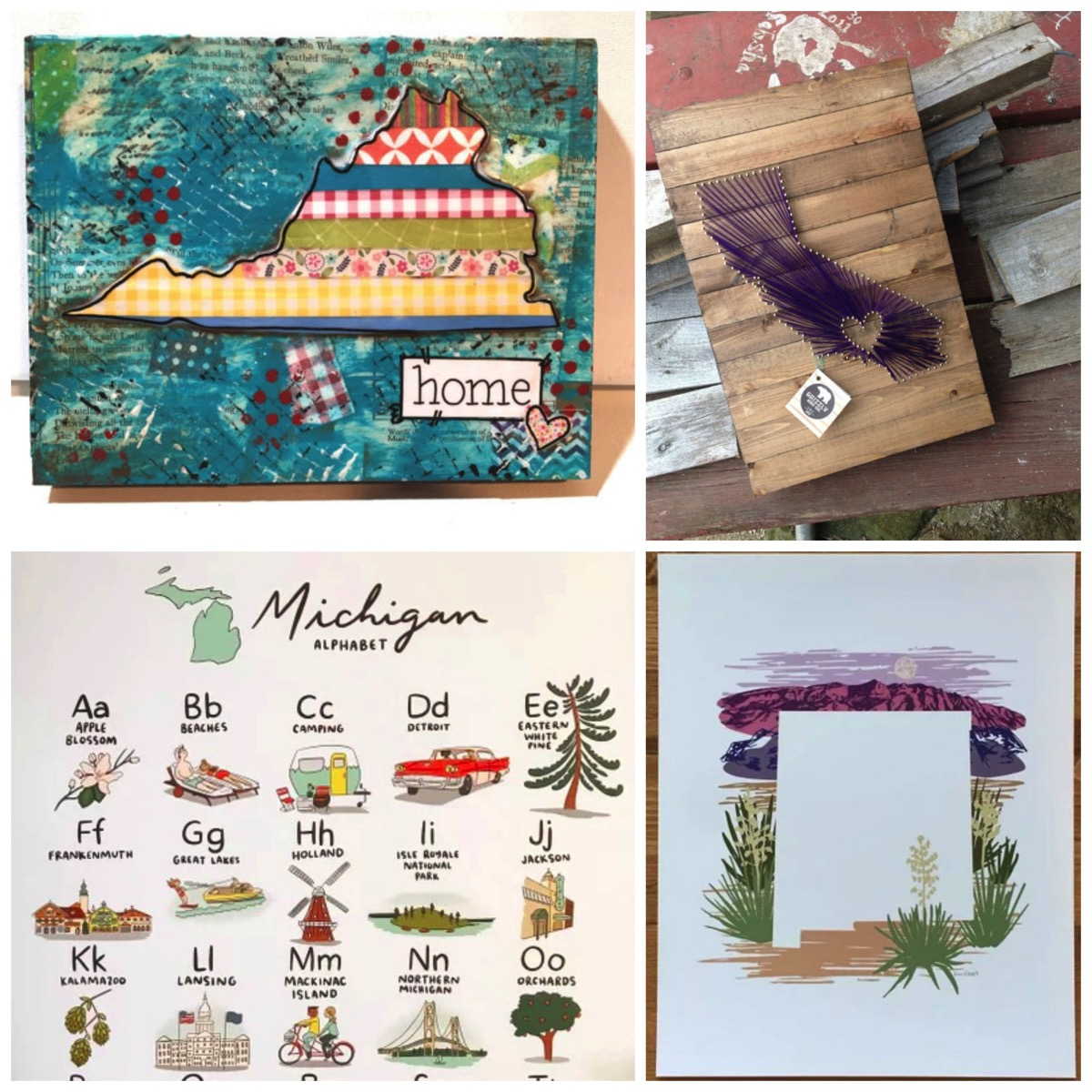 Best state themed gift ideas for home decor or birthday