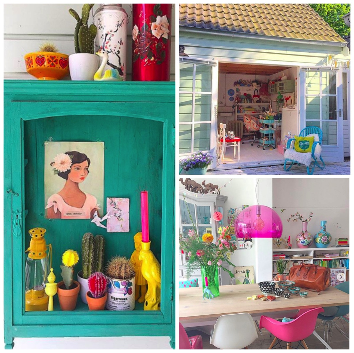 Pink colorful home decor ideas rainbow home