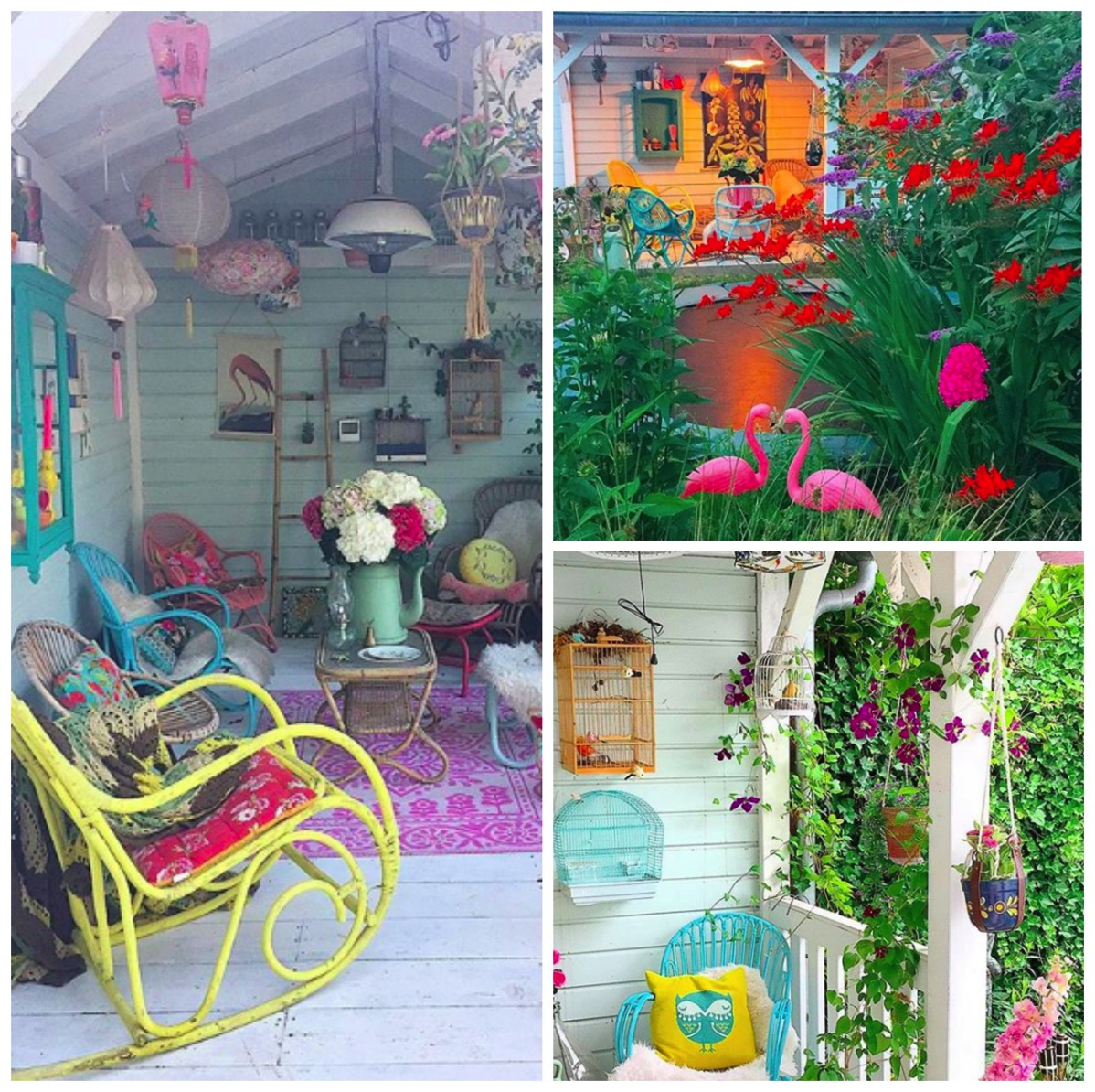 Red cherry rockers colorful home tour