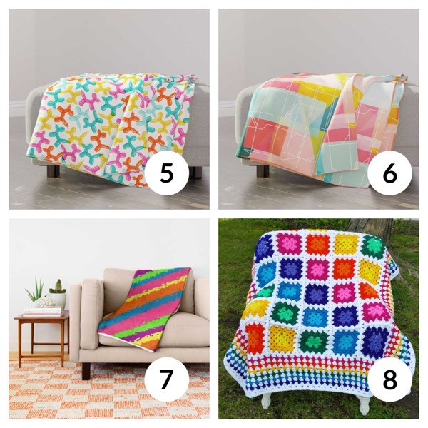 Colorful throw blanket list 1  1