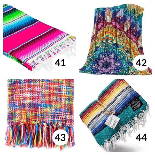 Colorful throw blanket list 1  10
