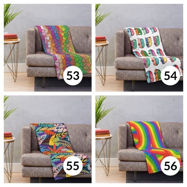 Colorful throw blanket list 1  13