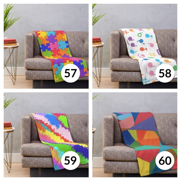 Colorful throw blanket list 1  14