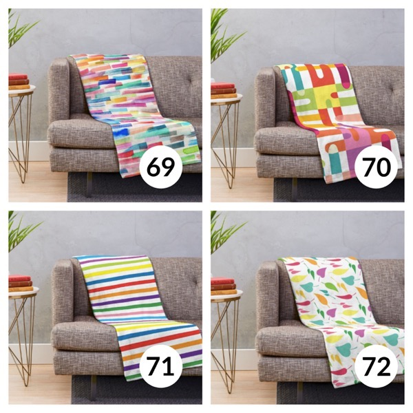Colorful throw blanket list 1  17