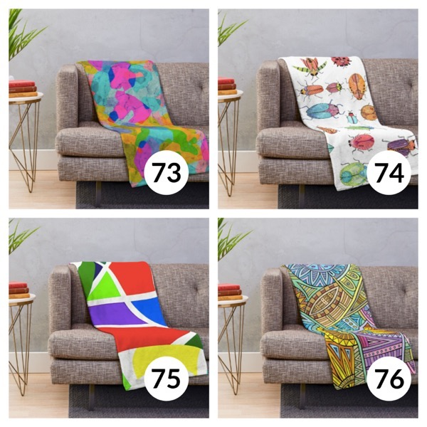 Colorful throw blanket list 1  18