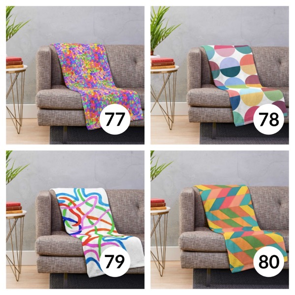 Colorful throw blanket list 1  19