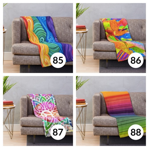 Colorful throw blanket list 1  21