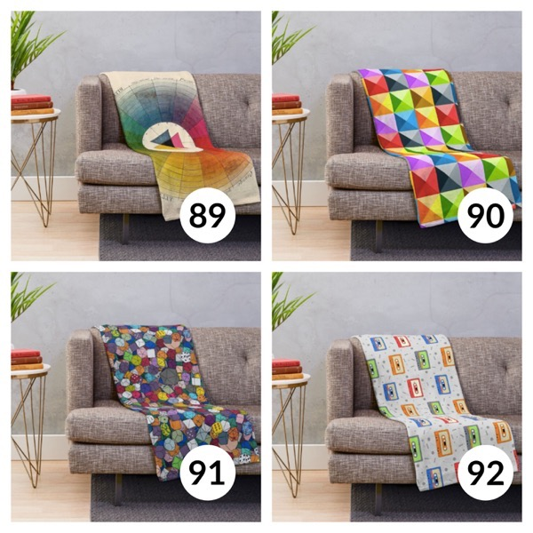 Colorful throw blanket list 1  22