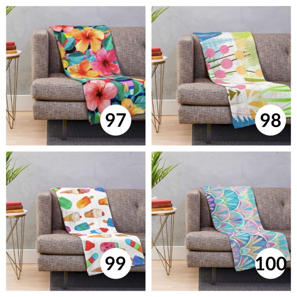 Colorful throw blanket list 1  24