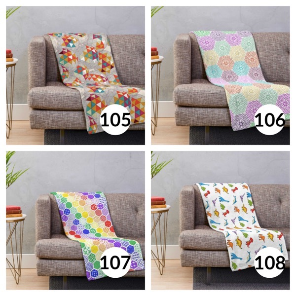 Colorful throw blanket list 1  26