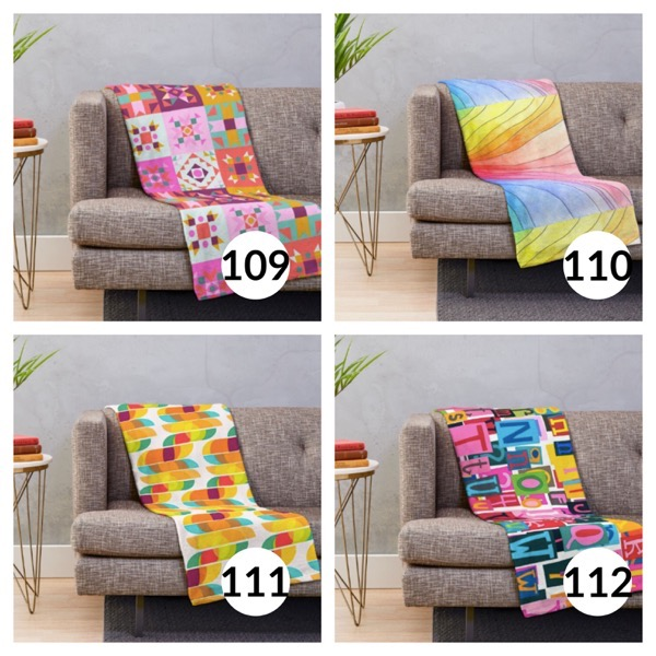 Colorful throw blanket list 1  27
