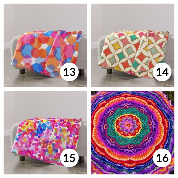 Colorful throw blanket list 1  3