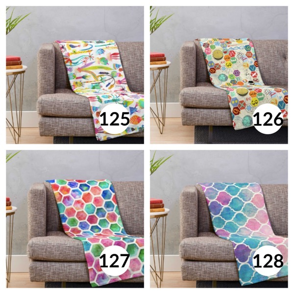 Colorful throw blanket list 1  31