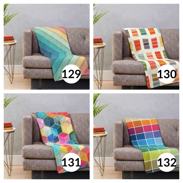 Colorful throw blanket list 1  32