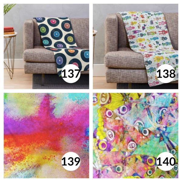 Colorful throw blanket list 1  34