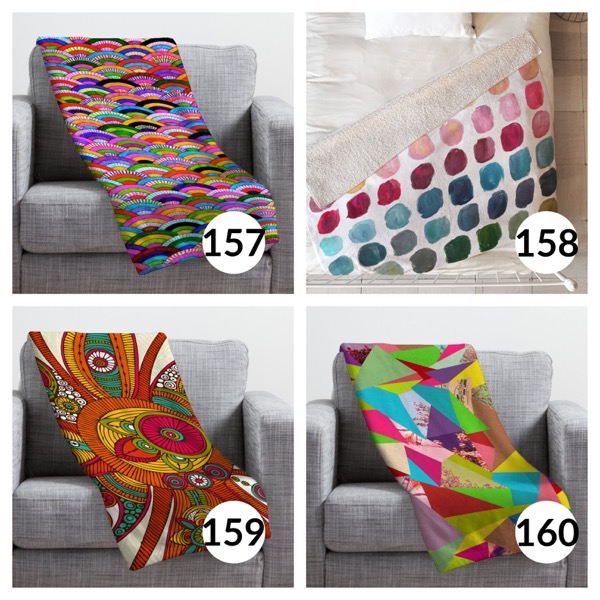 Colorful throw blanket list 1  39