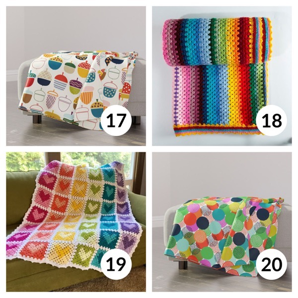 Colorful throw blanket list 1  4