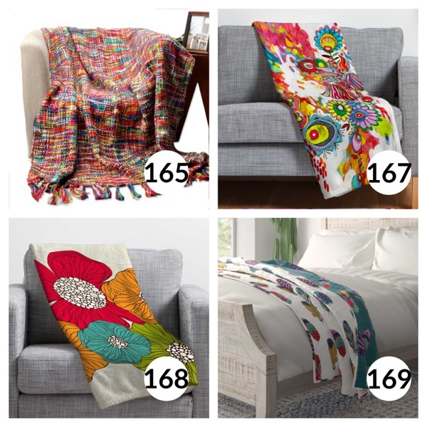Colorful throw blanket list 1  41