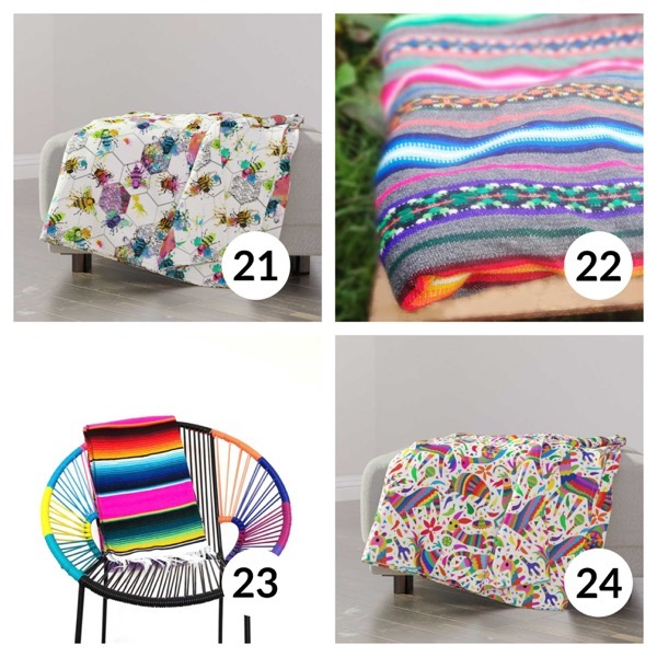 Colorful throw blanket list 1  5