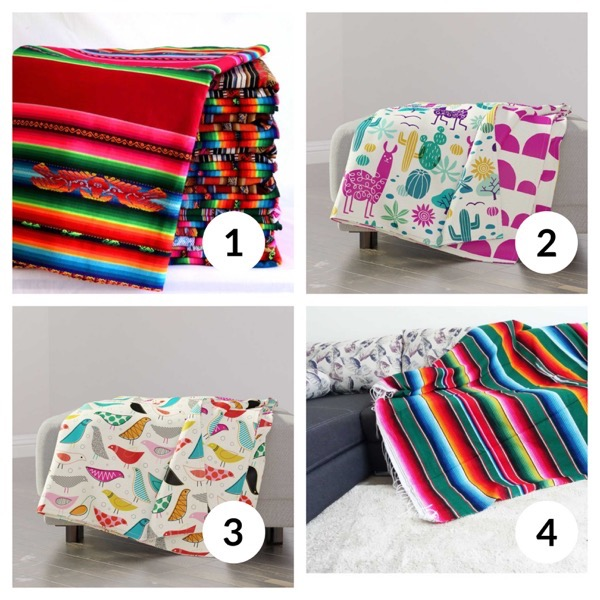 Colorful throw blanket list 1