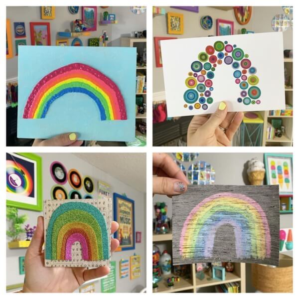 Colorful ways to make rainbows